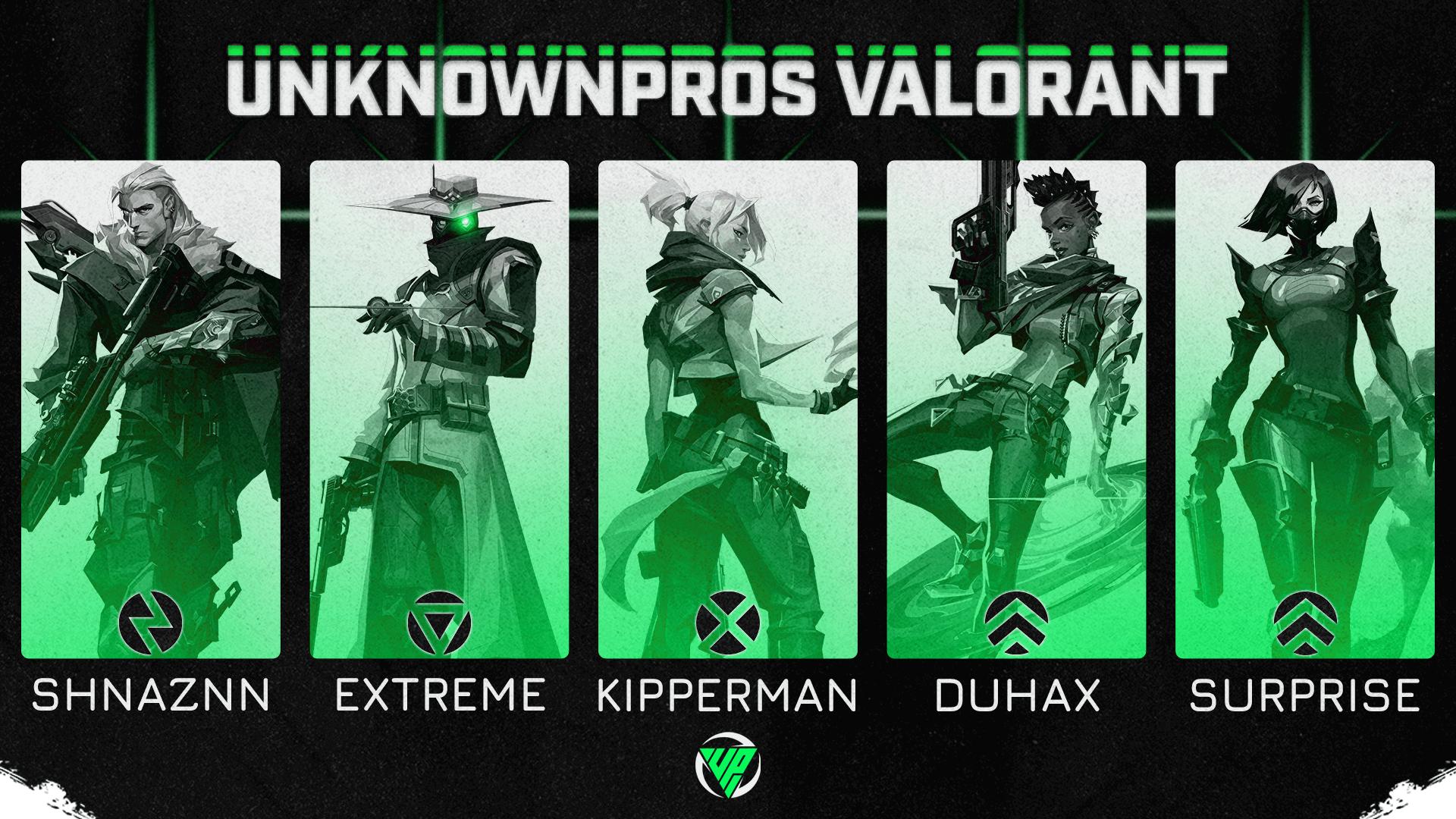 Unknownpros Valorant Takımı Kadrosu